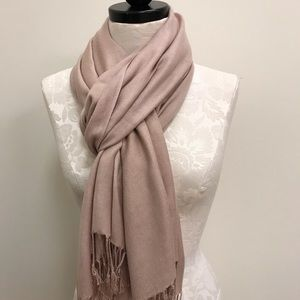 NWT Pashmina Beige Solid Scarf